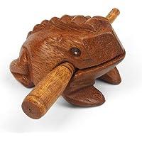 Mini Holz krächzend Frosch Güiro - Fair Trade Percussion - ideal für alle Altersgruppen.