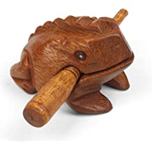 Mystery Mountain - Güiro (tamaño pequeño, ideal para cualquier edad), diseño de rana