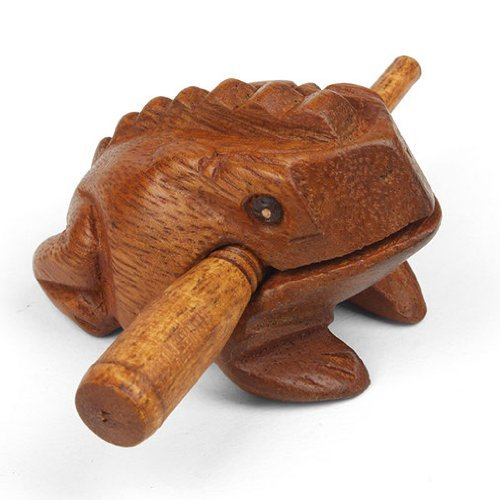 Mini Holz krächzend Frosch Güiro - Fair Trade Percussion - ideal für alle Altersgruppen.
