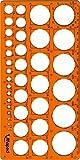Maped - Trace-Cercles Pairs et Impairs de 1 à 35 mm - 39 Cercles - Règle 22 cm -...