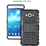 Dream2cool Hybrid Military Grade Armor Kick Stand Back Cover Case For Samsung Galaxy J2 Sm-J200F (Black)