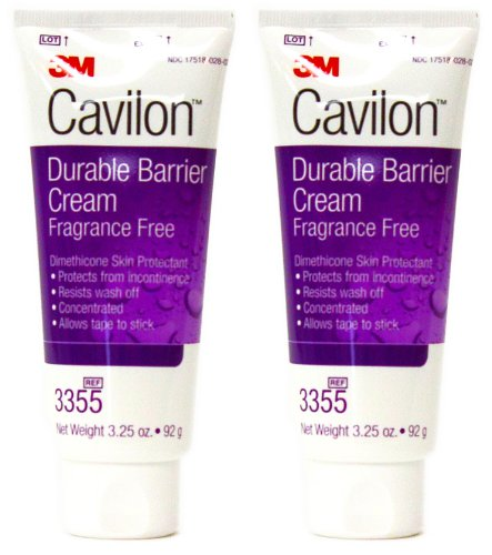3M Cavilon Durable Barrier Cream Fragrance Free 3.25 ounce (92g) Tube (Pack of 2) by Cavilon