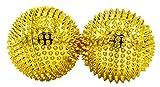 2 Boules magnétiques d'accupression - Or, moyen, Diamètre 47 mm - 414 aiguilles d'accupression