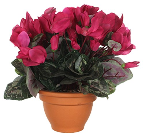 MICA Decorations 947211 Blumen, Cyclamen, rosa