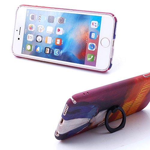 iProtect Hardcase mit Ring Blüten Schutzhülle in Transparent Schwarz mit Fingerhalterung für Apple iPhone 7, iPhone 8 Nurse