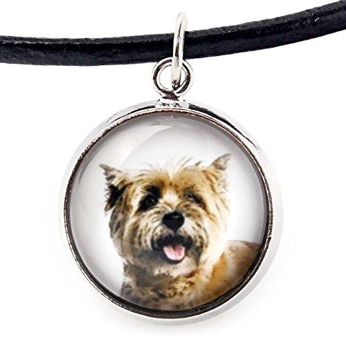 ArtDog Ltd. Cairn Terrier, Halskette für Menschen, die Hunde lieben, Foto-Schmuck, Handgefertigt -