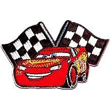 rot Aufnäher 8x3,3cm Bügelbild CARS McQueen 95 Disney  Comic Kinder