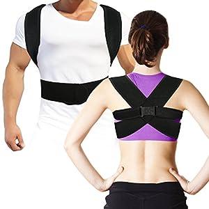 Geradehalter zur Haltungskorrektur- Rückenstütze und Bandage zur Korrektur der Körperhaltung, Haltungstrainer zur Unterstützung für den oberen Rücken – gegen Nacken- und Schulterschmerzen