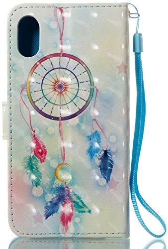 Coque Iphone X Edition, Iphone X Case, Iphone X Coque, Iphone X Protection, Coque Iphone 10 euros, Nnopbeclik® à Rabat Fonction Wallet/Portefeuille en Bonne Qualité PU Cuir Housse (5.8 Pouces) Peint 3 hibou3