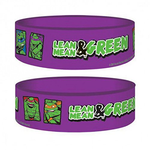 1art1 77008 Teenage Mutant Ninja Turtles - Lean Mean & Green Armband 6 x 2 cm