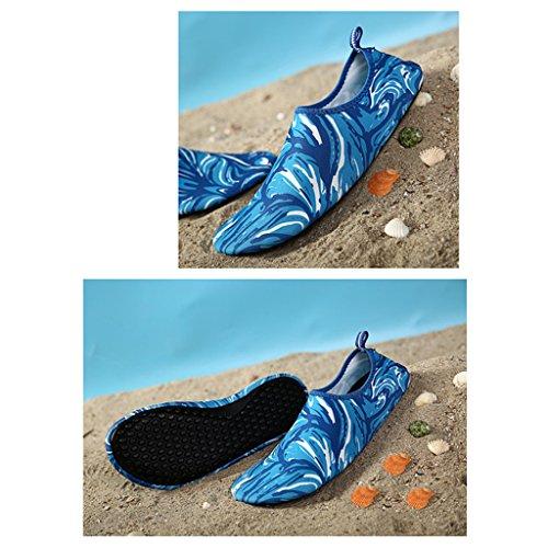 hibote Unisex Herren Damen Barfuß Wasserschuhe StrandschuheAtmungsaktiv Schwimmschuhe Aquaschuhe Surfschuhe SYU-4
