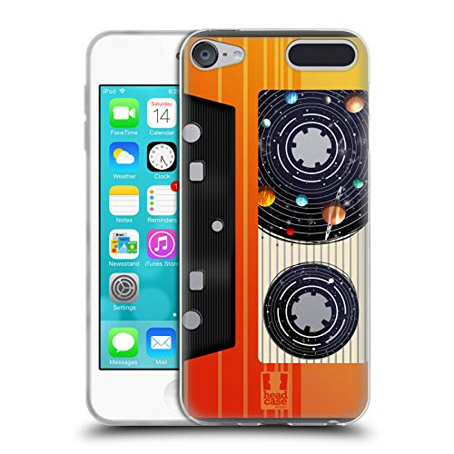 Head Case Designs Kassette-Band Raummusik Soft Gel Huelle kompatibel mit Apple iPod Touch 6G 6th Gen -