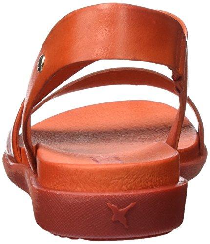 Pikolinos Damen Antillas W0h_v17 Offene Sandalen mit Keilabsatz Rot (Tomato)