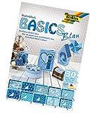 folia 46449 - Motivblock Basics, 24 x 34 cm, 30 Blatt sortiert, blau