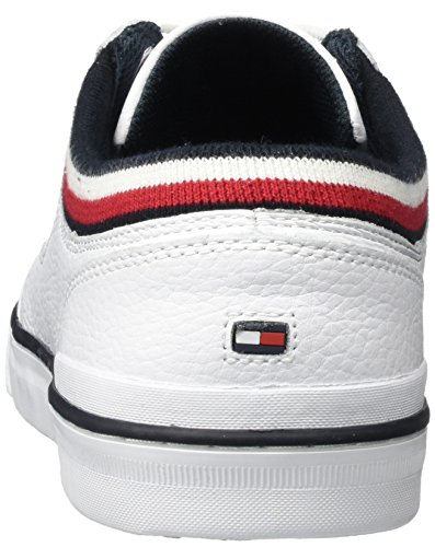 Tommy Hilfiger H2285arrington 8a, Baskets Basses Homme (White)