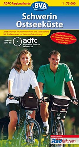 ADFC Regionalkarten, Schwerin, Ostseeküste (ADFC-Regionalkarte 1:75000)