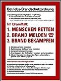 LEMAX® Schild Alu Betriebs-Brandschutzordnung nach DIN 4066 und DIN 4067 400x300mm