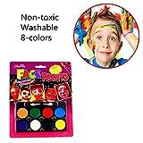 SHARPTON Schminkset für Jungen & Mädchen,Schminkpalette für Gesicht und Körper Malen - 8 Farben für Party Make up Face Painting Body Painting Set