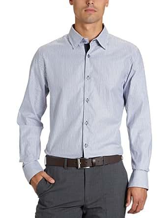 Matinique Herren Businesshemd, gestreift D46352001 Grande, Gr. 52 (L), Blau (209 Midnight blue)