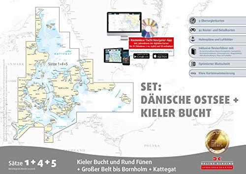 Sportbootkarten Satz 1, 4 und 5 – Set: Dänische Ostsee und Kieler Bucht (Ausgabe 2018)