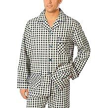 El Búho Nocturno Especial Tallas Grandes, Pijama de Caballero | Pijama de Hombre de Manga