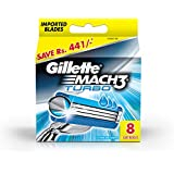 Gillette Mach 3 Turbo Manual Shaving Razor Blades - 8s Pack (Cartridge)
