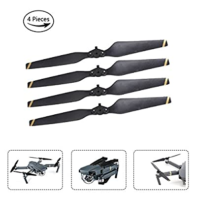 AQGOODLIFE DJI Mavic Pro Accessories 4 Pieces 8330F Propellers Quick Release Folding for Your Drone(Gold)