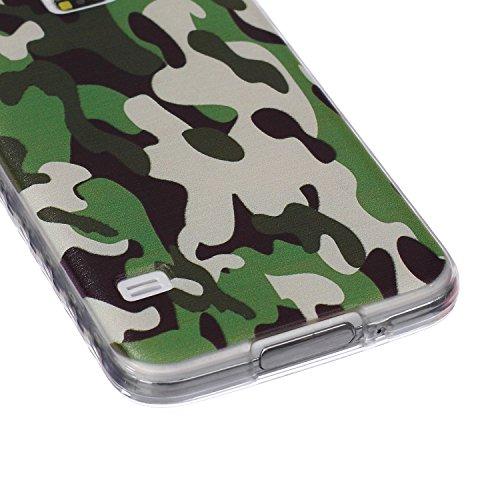 Voguecase® Pour Apple iphone 4 4G 4S, Ultra-minces TPU Silicone Shell Housse Coque Étui Case Cover (arrière)+ Gratuit stylet l'écran aléatoire universelle camo