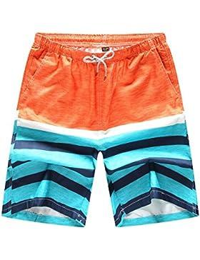 ZiXing Pantalones Cortos Hombre Boardshorts Deporte Secado Rápido Bañador Ligero Shorts Surf Calzoncillos Trajes...