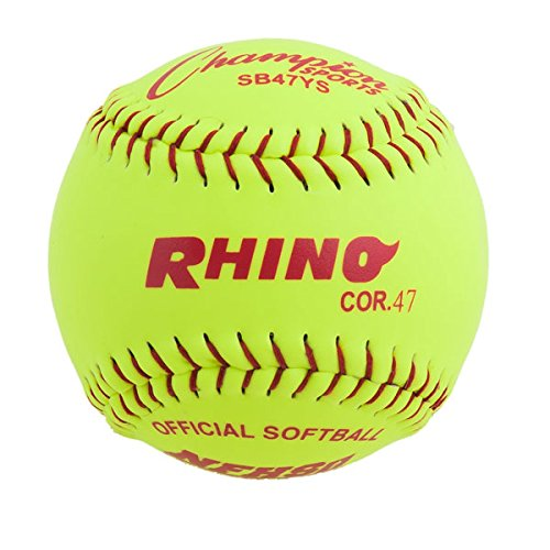 Pitch Softball mit synthetischen Leder, 12Zoll, 12Stück ()