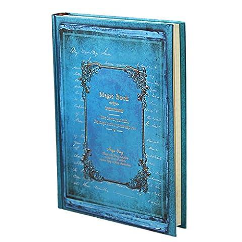 Liying Neu Retro Tagebuch Notizbuch Skizzenbuch DIN A5 Kraftpapier 128 Blatte Hardcover Geschenkbucher Reisetagebuch mit Schloss