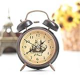 Europäische Alarm Wanduhr beleuchtet Persönlichkeit Stumm Schlafzimmer Nachttischlampe Multifunktions Creative Wanduhr 7