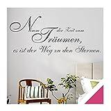 Exklusivpro Wandtattoo Wand-Spruch Nimm dir Zeit zum Träumen… mit SWAROVSKI (zit44 pink) 120cm
