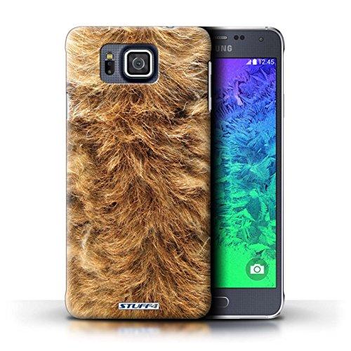 Kobalt® Imprimé Etui / Coque pour Samsung Galaxy Alpha / Vache/Brown conception / Série Motif Fourrure Animale Chien