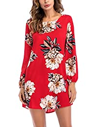 Mujer Vestidos De Fiesta Cortos Verano Primavera Estampadas Flores Chiffon Tul Vestido De Boho Elegantes Backless