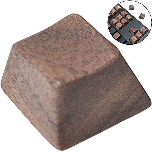 wingoffly Premium Qualität Schwarz Walnuss Holz Mechanische Tastatur Tastenkappe 1PC R4 - Qualität Walnuss