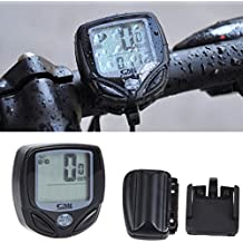 Hrph Wireless LCD Backlight Bike Computer velocidad cuentakilómetros velocímetro impermeable de bicicletas