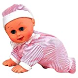 #9: Smiles Creation Cute and Clever Crawling Baby with Music, Crawling and Dancing Baby Toy for Kids.