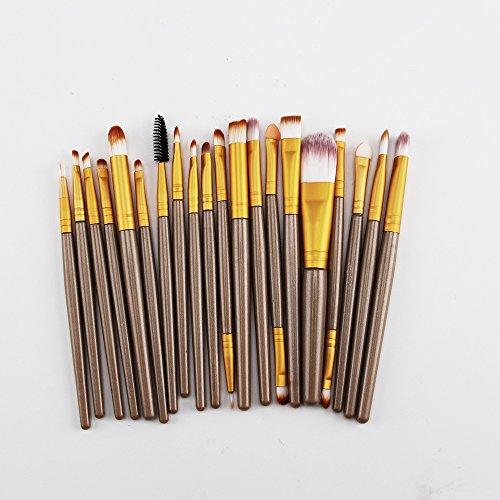 Multiware 20 pcs Make Up Lot de pinceaux de fond de teint Fard à paupières Eyeliner Poudre Kabuki Style