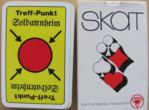 Treff-Punkt Soldatenheim - Skatspiel - franz. Blatt -