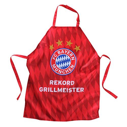 FC Bayern Grillschürze Rekordgrillmeister rot