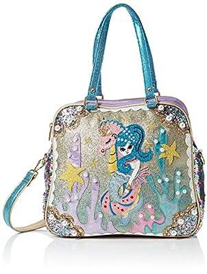 Irregular Choice Womens Barnacle Betty Bag Top-Handle Bag Multicolour (Green/Purple)