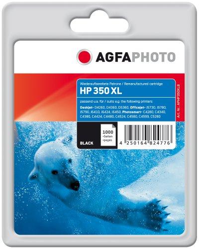 Preisvergleich Produktbild AgfaPhoto APHP350XLB Tinte für HP OJ5780, 34 ml, schwarz