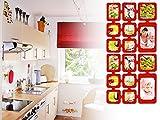 0,82 m Set Fotos Bilder Raumteiler Rahmen Collage Fotowand Kartenwand Fotovorhang Fototaschen Fotogalerie Kunststoff Fotohalter Rot