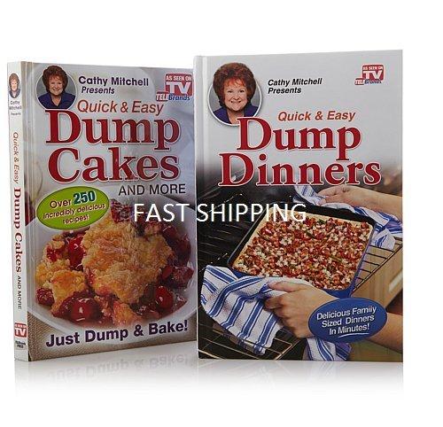 Dump Kuchen und Dump Abendessen Quick & Easy Kochbuch Combo (beide Hardcover)