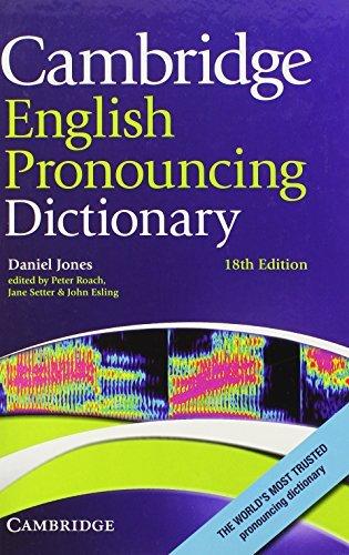 Cambridge English Pronouncing Dictionary by Daniel Jones (2011-11-28)