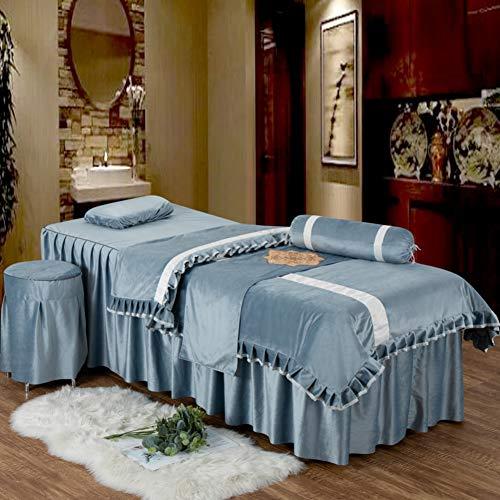 JIAOXM Spa Laken Für Beauty-Salon,Laken Mit Loch Schönheitssalon Bettbezug Vier-Anzug,Massage Schönheitssalon Spezielle Bettbezug-a 190x70cm(75x28inch) -