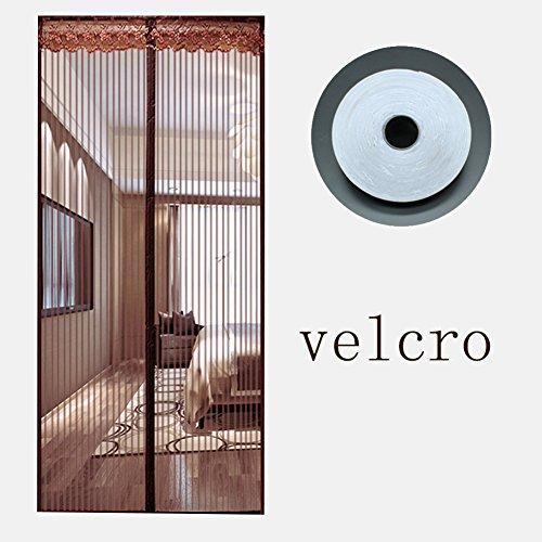 Magnetische Full-frame velcro Fliegengitter, Mesh-vorhänge partition wind moskito für schlafzimmer wohn patio transparent-A 200x240cm(79x94inch)