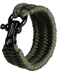The Friendly Swede Pulsera de Supervivencia Trilobite en Paracord - Tamaño Ajustable S-M para Muñecas de 15 - 18 cm - GARANTÍA DE POR VIDA