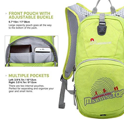 Mardingtop Fahrradrucksäcke Fahrrad Schulter Rucksack Wander Reisetasche Backpacks für Outdoor Radsport Reiten Bergsteigen Rose Rot